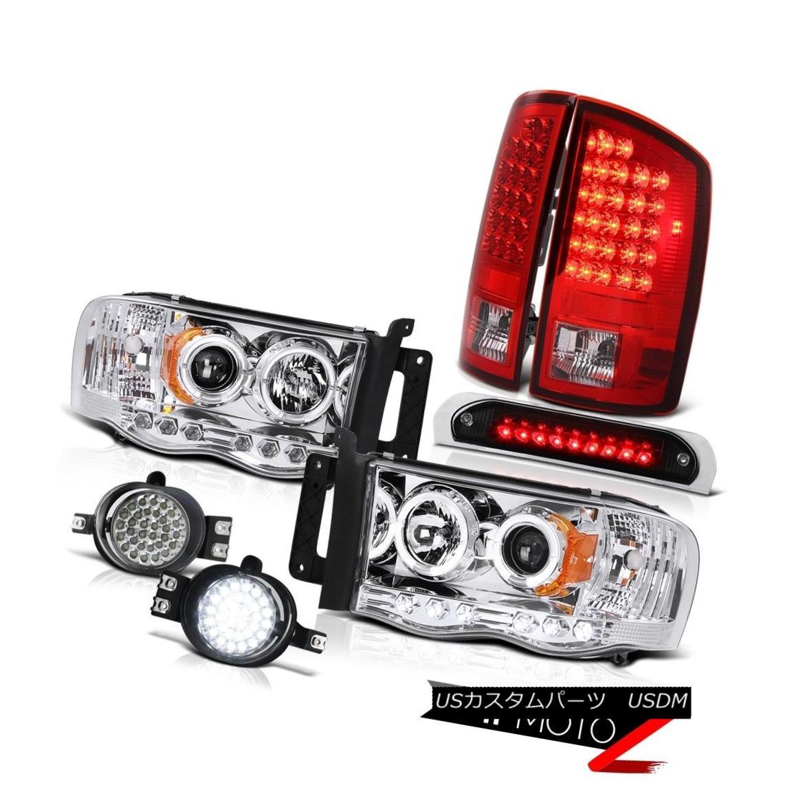 ヘッドライト 02 03 04 05 Dodge Ram Chrome Halo Headlights LED Brake Taillights Foglights High 02 03 04 05ダッジ・ラム・クローム・ハロー・ヘッドライトLEDブレーキ・テールライト・フォグライト・ハイ