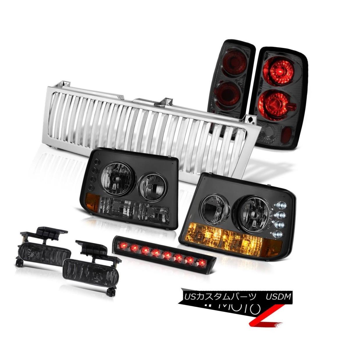 ヘッドライト Tinted Parking Headlamps Smoke Red Tail Lights Fog LED Grille 00-06 Tahoe 5.3L 着色駐車場ヘッドランプ煙レッドテールライトフォグLEDグリル00-06タホー5.3L