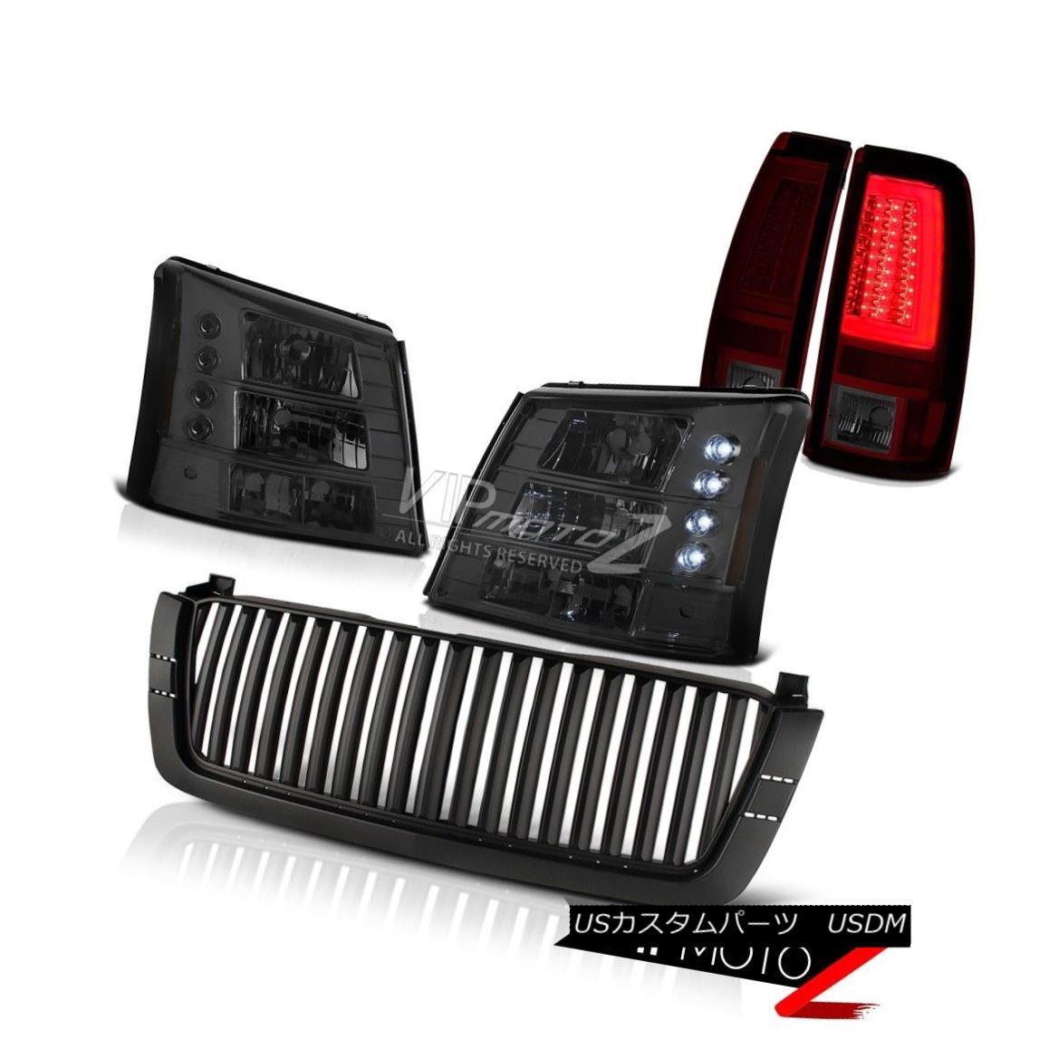 ヘッドライト 03-06 Silverado Inky Black Sport Grille Dark Smoke 1PC Headlights Tail Lamps LED 03-06 Silverado Inky Black Sport Grilleダークスモーク1PCヘッドライトテールランプLED