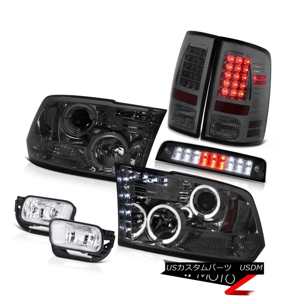 ヘッドライト 09-13 Ram 1500 6.7L Black Roof Cab Lamp Fog Lamps Smoked Tail Lights Headlights 09-13ラム1500 6.7Lブラックルーフキャブランプフォグランプスモークテールライトヘッドライト