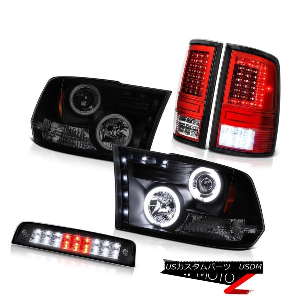 ヘッドライト 09 10 11-18 Dodge RAM 1500 3500 Brake Lights Tail Lamp Sinister Black Head SET 09 10 11-18 Dodge RAM 1500 3500ブレーキライトテールランプブラックヘッドセット