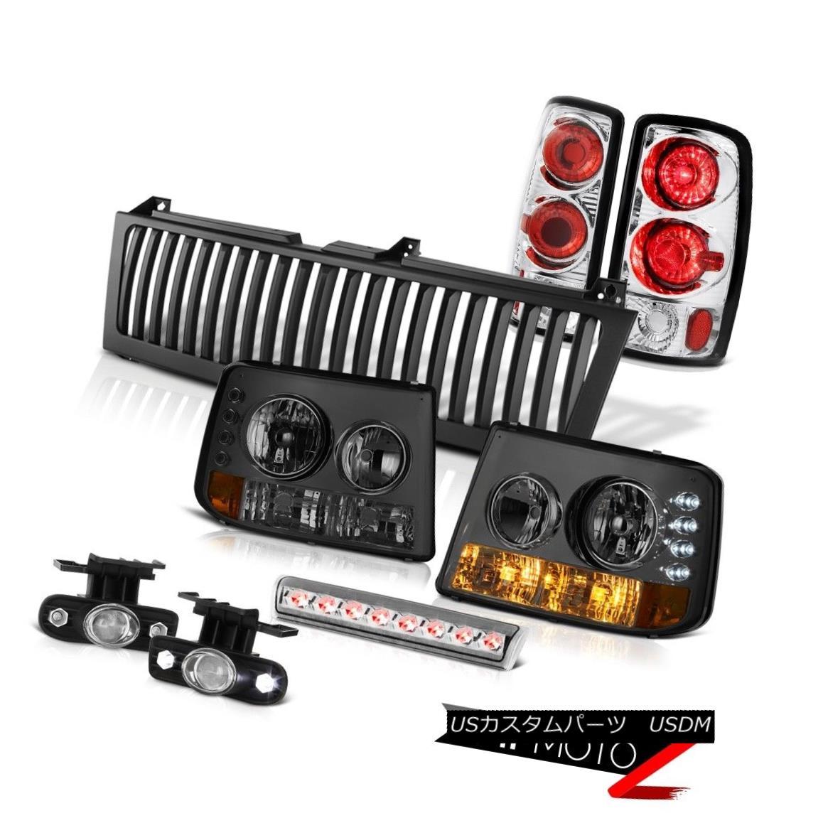 ヘッドライト Headlights Chrome Rear Tail Lamps Fog High Brake LED Bulbs Grille 00-06 Tahoe LT ヘッドライトクロームリアテールランプフォグハイブレーキLED電球グリル00-06タホLT