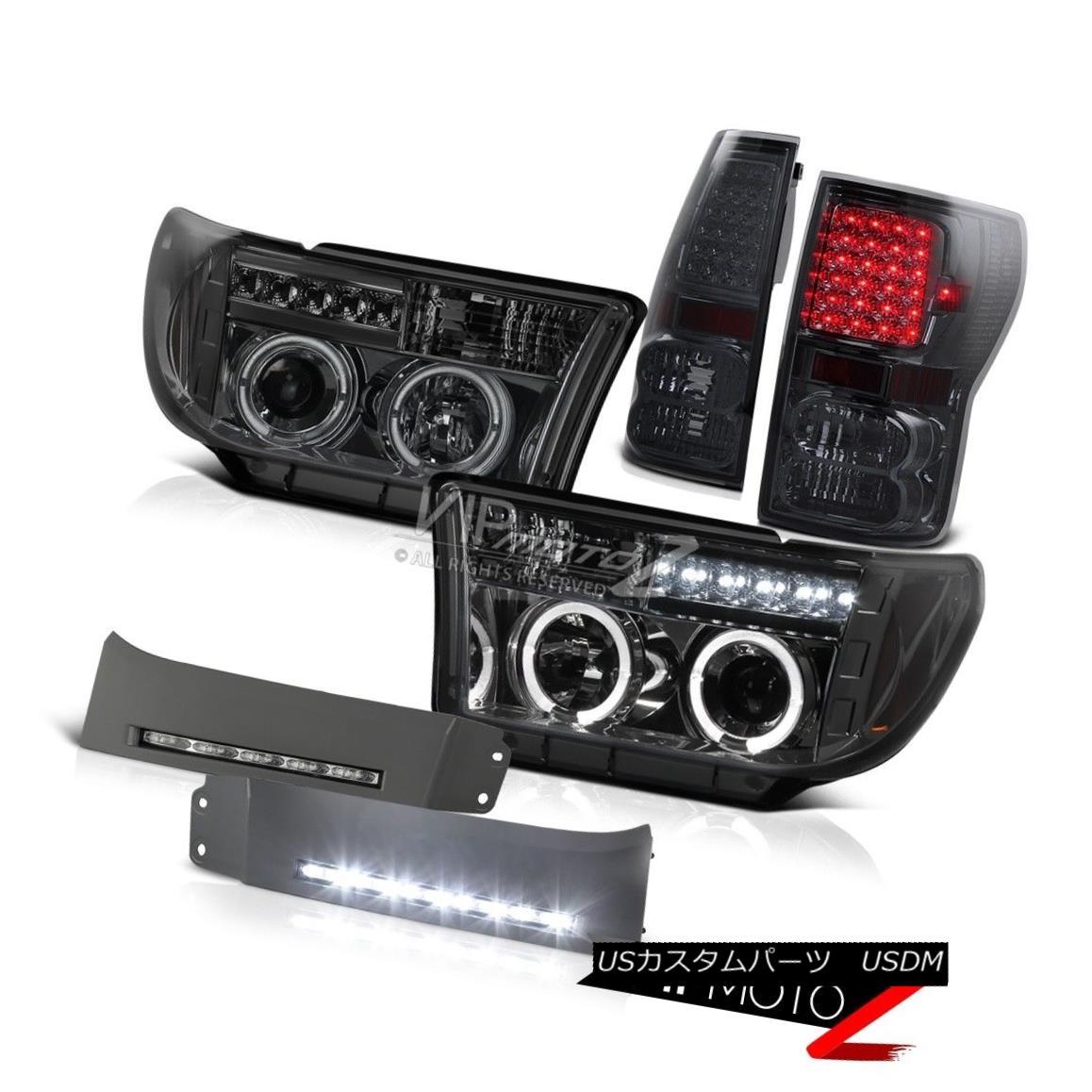 ヘッドライト [BRIGHTEST D.R.L] Smoke LED Headlight Halo Tail Light DRL Fog Driving Light Lamp [BRIGHTEST D.R.L]煙LEDヘッドライトハローテールライトDRL霧走行ライトランプ