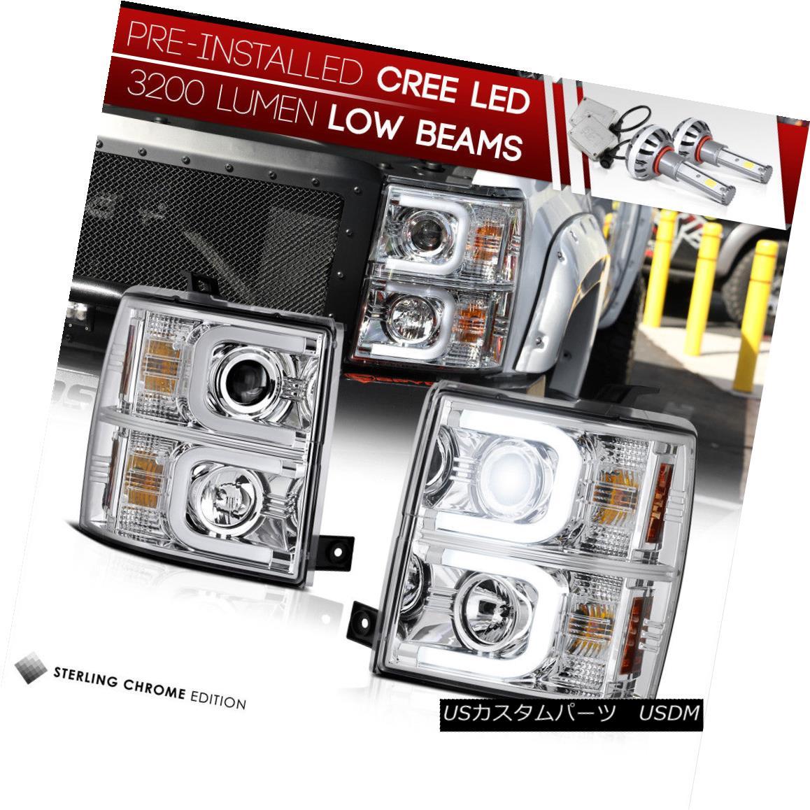 ヘッドライト [LED LOW BEAM] 2014-2015 Chevy Silverado Halo DRL Projector Headlights Headlamps [LED LOW BEAM] 2014-2015 Chevy Silverado Halo DRLプロジェクターヘッドライトヘッドランプ
