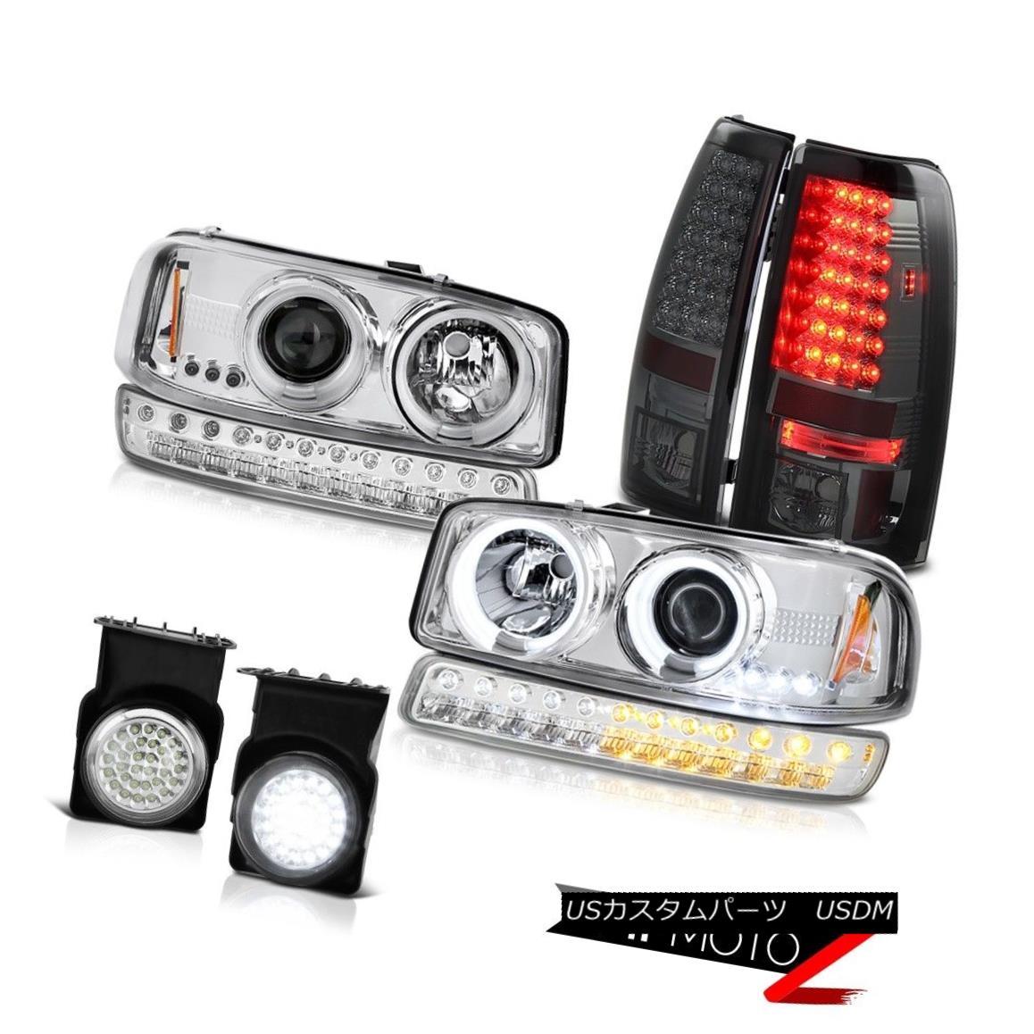 ヘッドライト 03-06 Sierra 1500 Euro Clear Foglamps LED Taillamps Signal Light CCFL Headlights 03-06 Sierra 1500 EuroクリアフォグランプLEDタイルランプシグナルライトCCFLヘッドライト