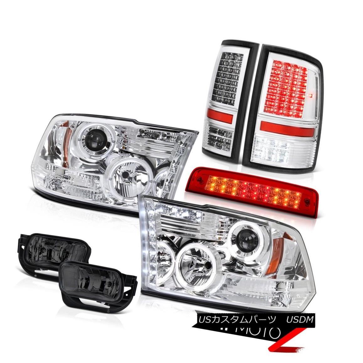 ヘッドライト 2009-2013 Ram 1500 SLT Red High Stop Lamp Taillamps Smoked Foglights Headlights 2009-2013 Ram 1500 SLTレッドハイストップランプタイルランプスモークフォグライトヘッドライト