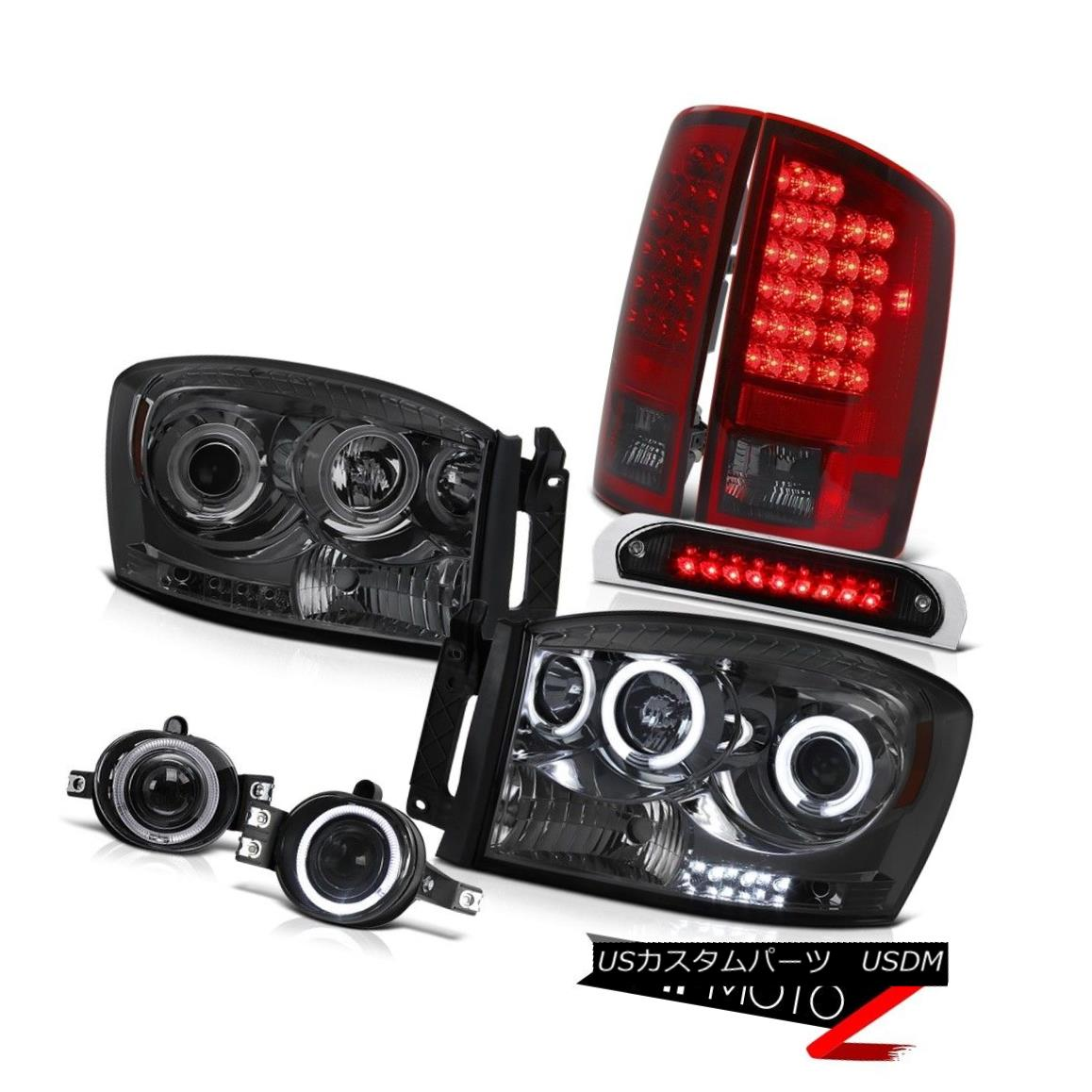 ヘッドライト Smoke CCFL Halo Headlights LED Bulbs Tail Lamps Fog Black 3rd 2006 Ram Magnum V8 煙CCFLハローヘッドライトLED電球テールランプ霧黒2006年3月ラムマグナムV8