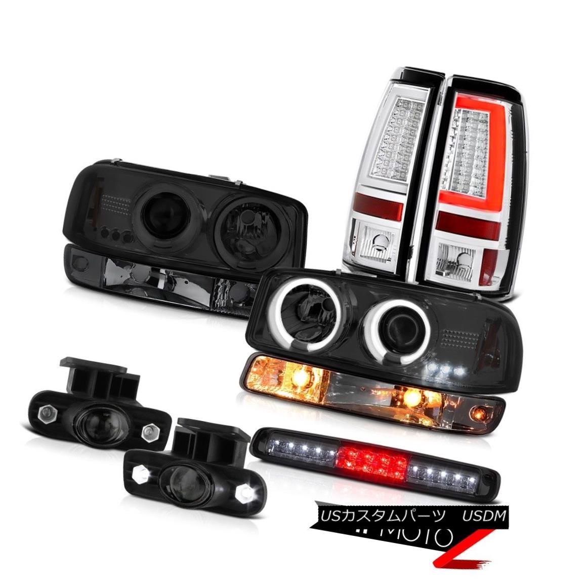 ヘッドライト 99 00 01 02 Sierra SLt Tail Lamps Roof Cab Lamp Signal Foglights CCFL Headlights 99 00 01 02シエラSLTテールランプルーフキャブランプ信号フォグライトCCFLヘッドライト