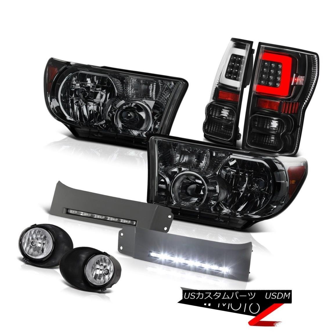 ヘッドライト 2007-2013 Toyota Tundra Inky Black Led Rear Head Lamps Drl Euro Chrome Driving 2007-2013トヨタ・トンドラ・インキー・ブラックLedリア・ヘッド・ランプDrlユーロ・クローム・ドライビング