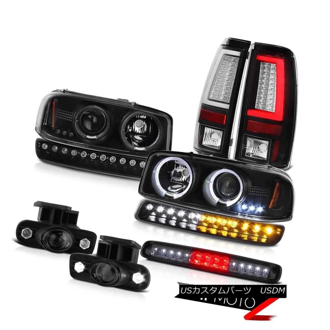 ヘッドライト 99 00 01 02 Sierra SL Black Taillamps High Stop Lamp Signal Foglights Headlamps 99 00 01 02 Sierra SL Black Taillampsハイストップランプ信号フォグライトヘッドランプ