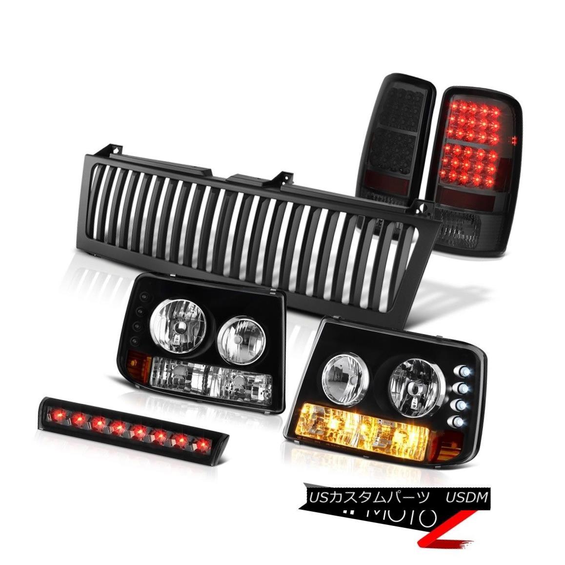 ヘッドライト 00 01 02 03 04 Suburban Crystal Headlights Smoke LED Tail Light High Stop Grille 00 01 02 03 04郊外のクリスタルヘッドライトスモークLEDテールライトハイストップグリル