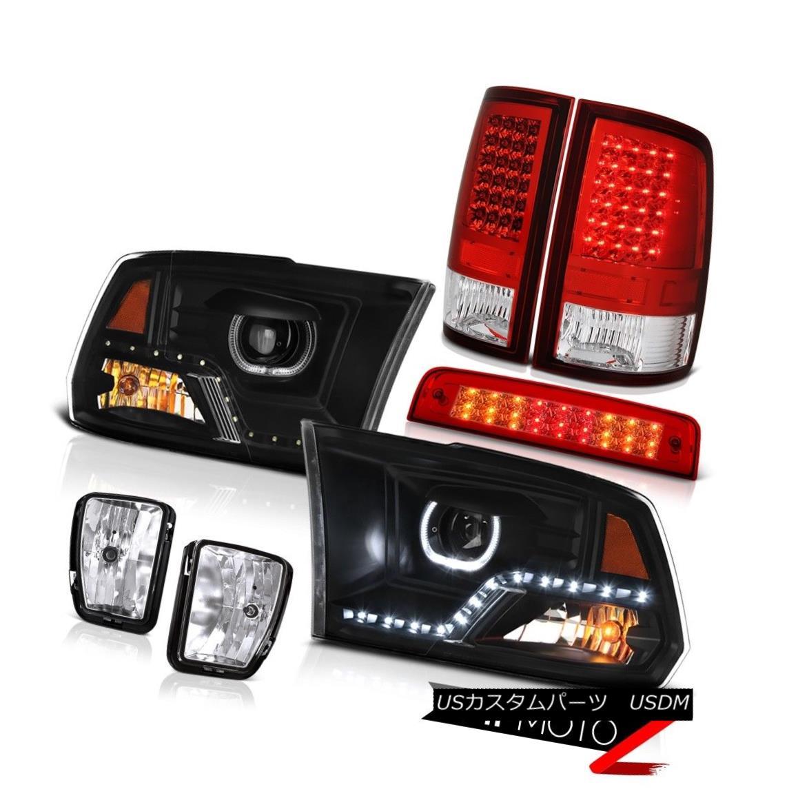 ヘッドライト 13-18 RAM 1500 Headlight Bloody Red Brake Light Tail Fog Light Assembly SET PAIR 13-18 RAM 1500ヘッドライトブラッディレッドブレーキライトテールフォグライトアセンブリSET PAIR