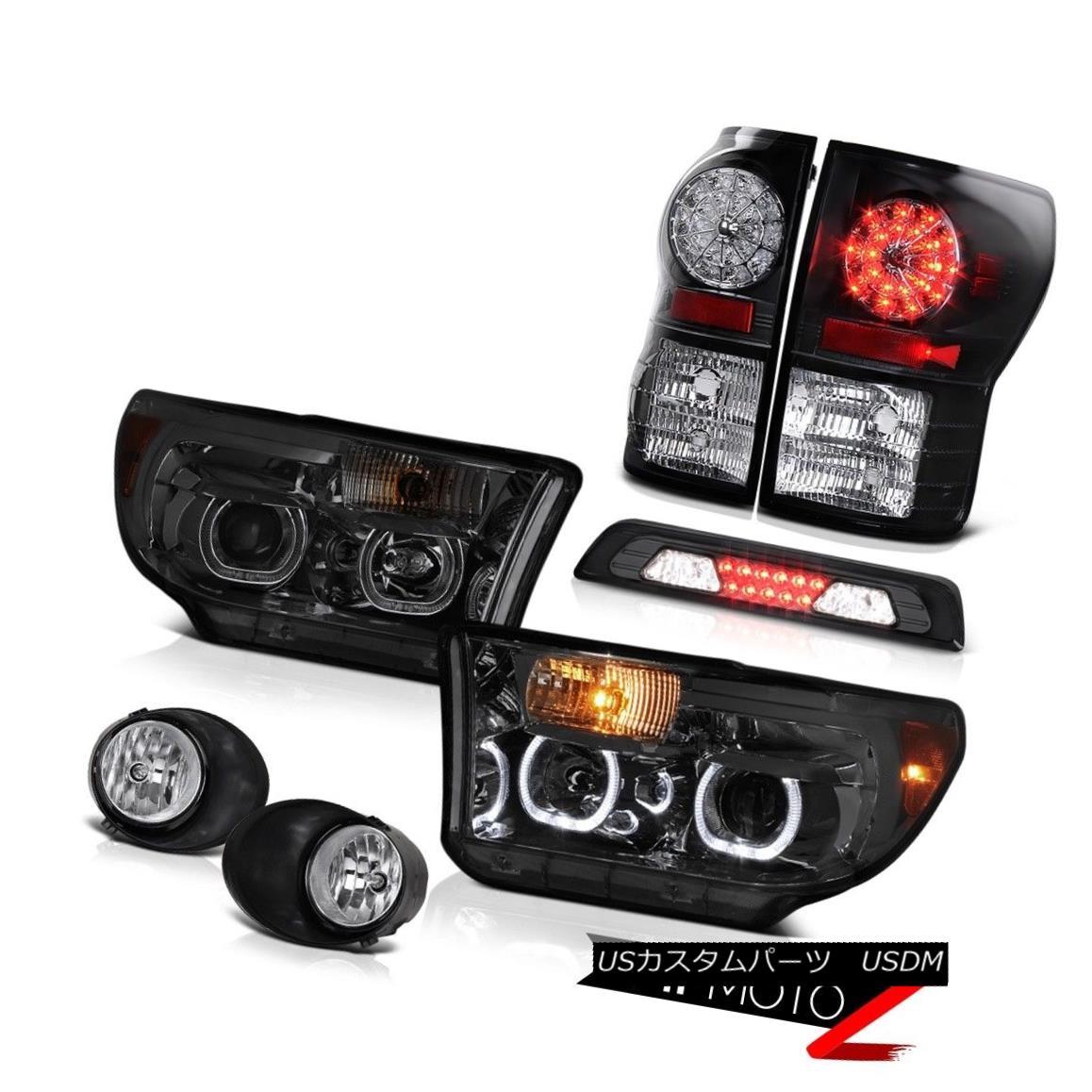 ヘッドライト 2007-2013 Toyota Tundra SR5 Headlights Fog Lamps Roof Cab Light Tail Halo Rim 2007-2013トヨタトンドラSR5ヘッドライトフォグランプルーフキャブライトテールハローリム
