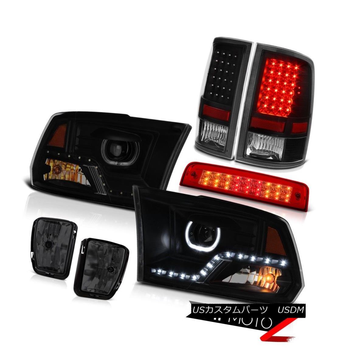 ヘッドライト 2013-2018 RAM 1500 DRL Head Lamps Red Brake Light Driving Lights Led Tail PAIR 2013-2018 RAM 1500 DRLヘッドランプレッドブレーキライトドライブライトLed Tail PAIR