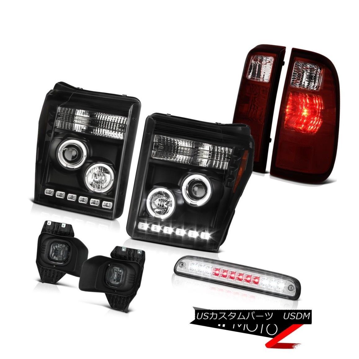 ヘッドライト 11-16 F250 Lariat Clear Chrome Roof Cab Light Foglamps Tail Lights Headlights 11-16 F250ラリアットクリアクロームルーフキャブライトフォグランプテールライトヘッドライト