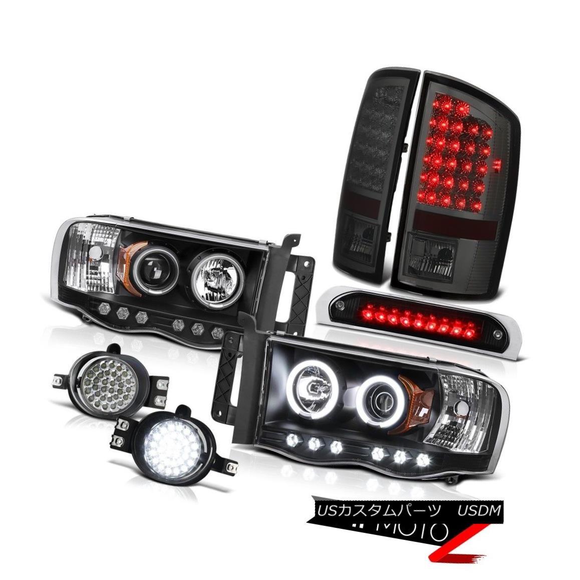 ヘッドライト CCFL Rim Headlights Smoke LED Tail Lights Daytime Fog 3rd Brake 03 04 05 Ram SLT CCFLリムヘッドライトスモークLEDテールライトデイタイムフォグ第3ブレーキ03 04 05ラムSLT