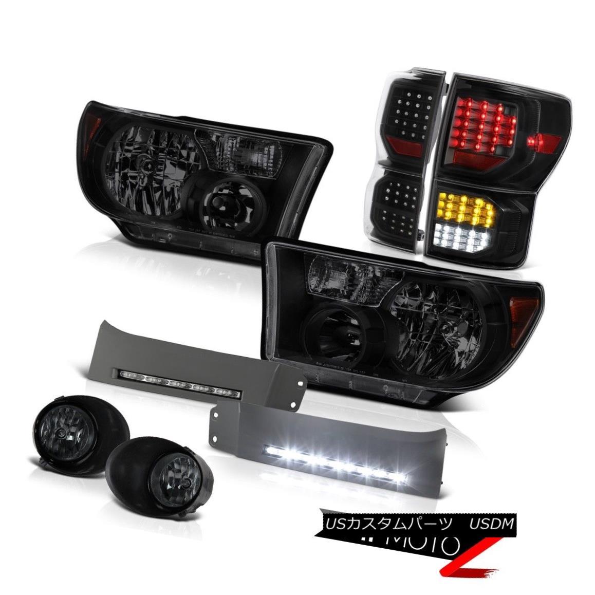 ヘッドライト 2007-2013 Toyota Tundra Limited Tail Lights Headlamps DRL Strip Smoked Fog SMD 2007-2013 Toyota Tundra LimitedテールライトヘッドランプDRLストリップスモークフォグSMD
