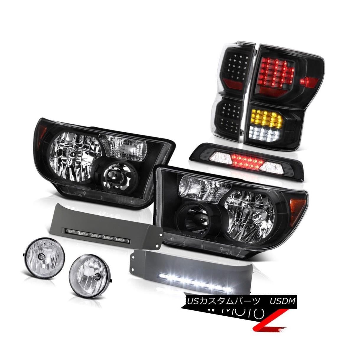 ヘッドライト 07-13 Toyota Tundra SR5 Taillamps Headlamps DRL Strip Roof Cab Lamp Foglamps SMD 07-13トヨタトンドラSR5タイルランプヘッドランプDRLストリップルーフキャブランプフォグライトSMD