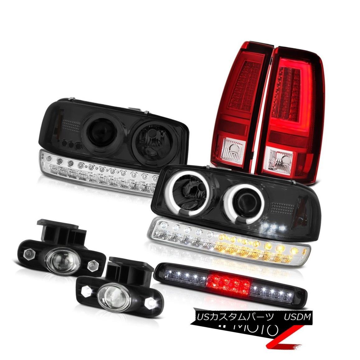ヘッドライト 99-02 GMC Sierra Tail Lamps Roof Cab Light Fog Bumper CCFL Headlamps