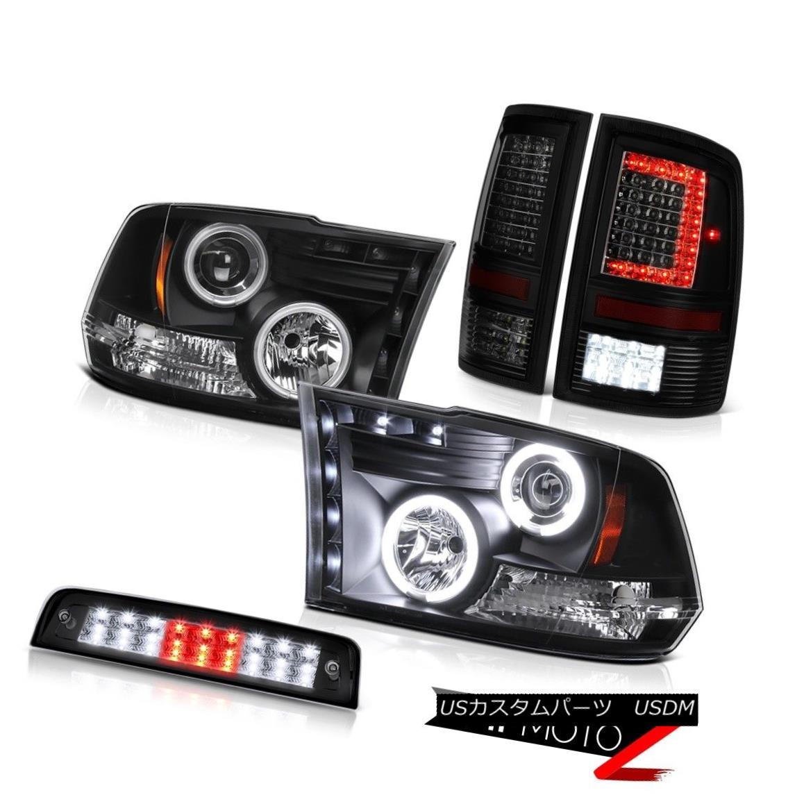 ヘッドライト 10 11 12 13-18 Dodge RAM 1500 2500 3500 Brake Light Dark Tinted Tail Head Light 10 11 12 13-18ダッジRAM 1500 2500 3500ブレーキライトダークティンテッドテールヘッドライト