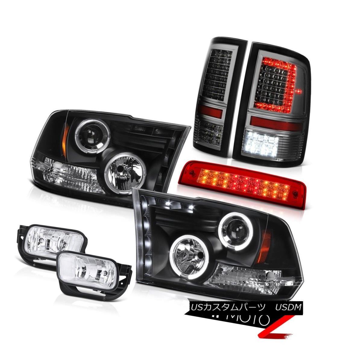 ヘッドライト 09-18 Dodge RAM 2500 Smoked Tail Lights Brake Light Driving Lamp Head SET PAIR 09-18ダッジRAM 2500スモークテールライトブレーキライト駆動ランプヘッドSET PAIR