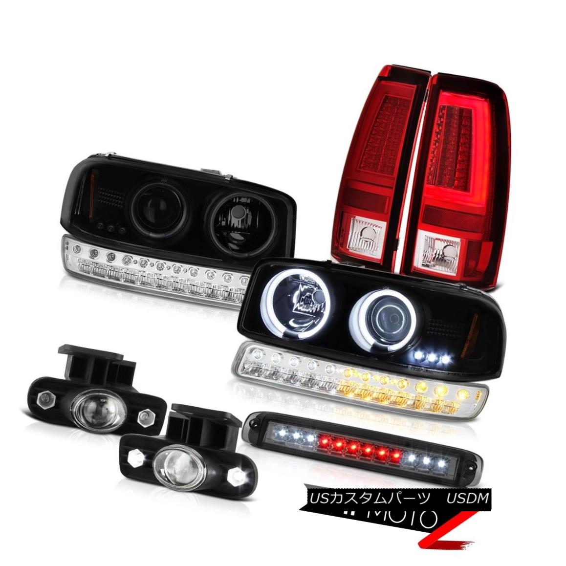 ヘッドライト 1999-2002 Sierra 5.3L Tail Lamps Roof Cab Lamp Foglights Bumper CCFL Headlights 1999-2002シエラ5.3LテールランプルーフキャブランプフォグライトバンパーCCFLヘッドライト