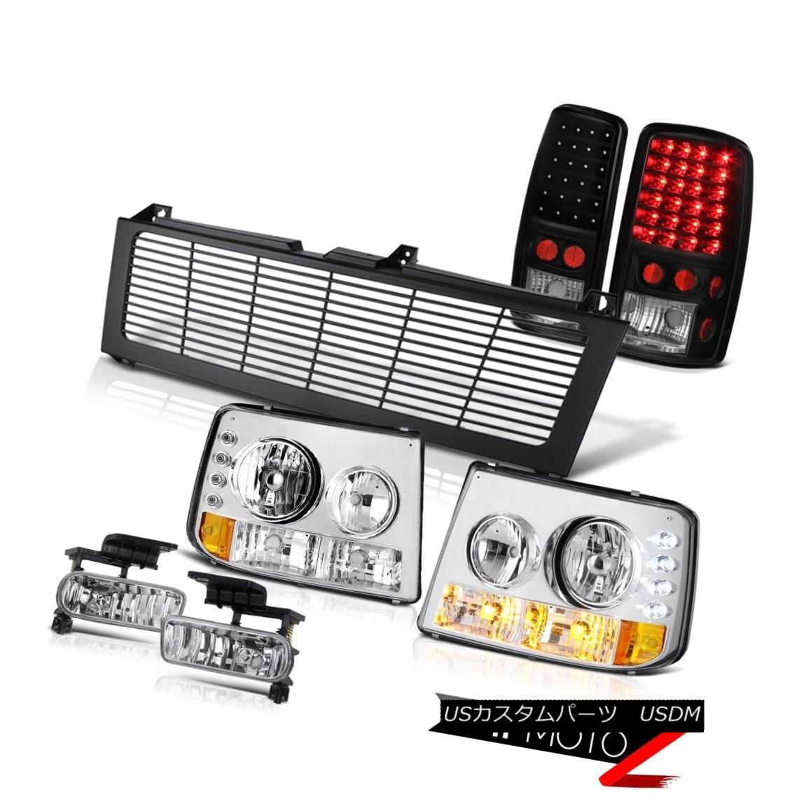 ヘッドライト 2000-06 Suburban 6.0L Parking Headlamp LED Tail Lamps Sterling Chrome Fog Grille 2000-06郊外6.0LパーキングヘッドランプLEDテールランプスターリングクロムフォググリル