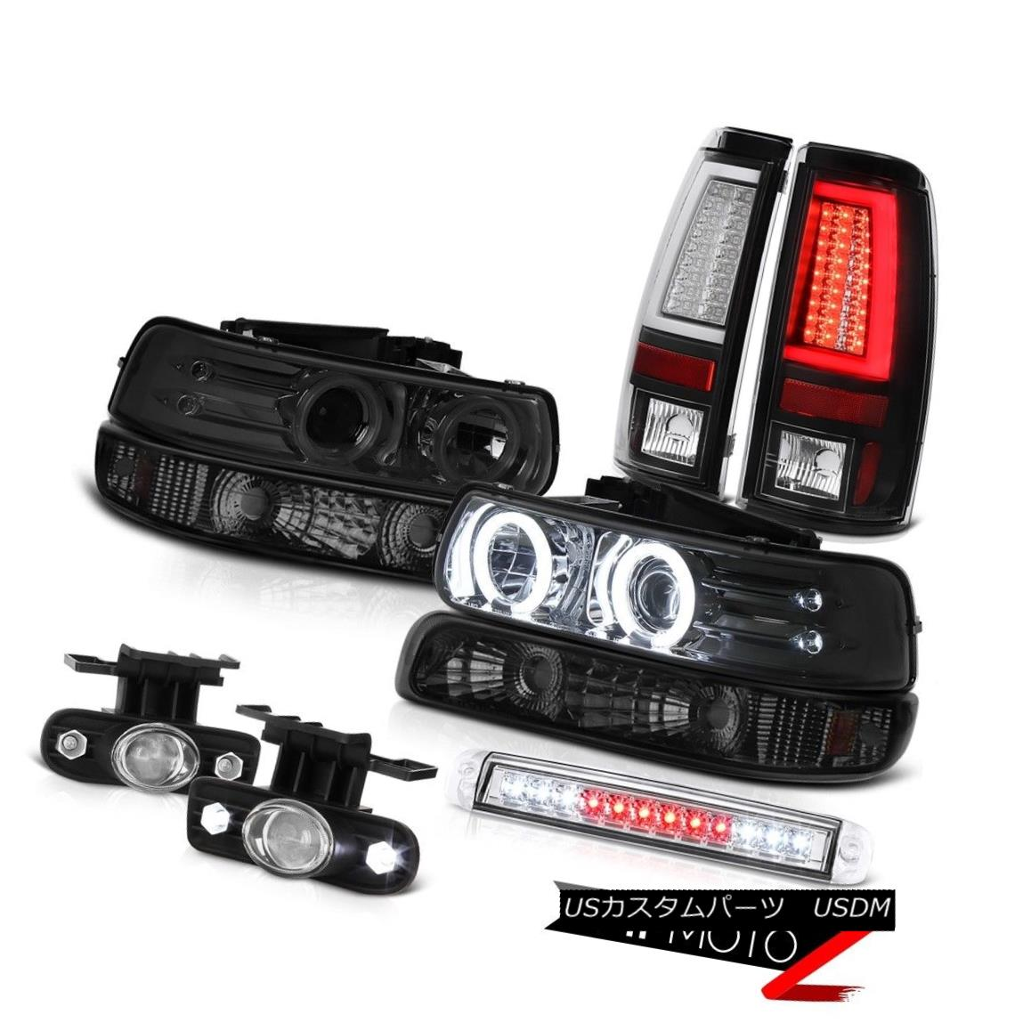 ヘッドライト 99-02 Chevy Silverado Tail Lights Roof Cab Light Parking Headlamps Foglamps LED 99-02シボレーシルバラードテールライトルーフキャブライトパーキングヘッドランプフォグランプLED
