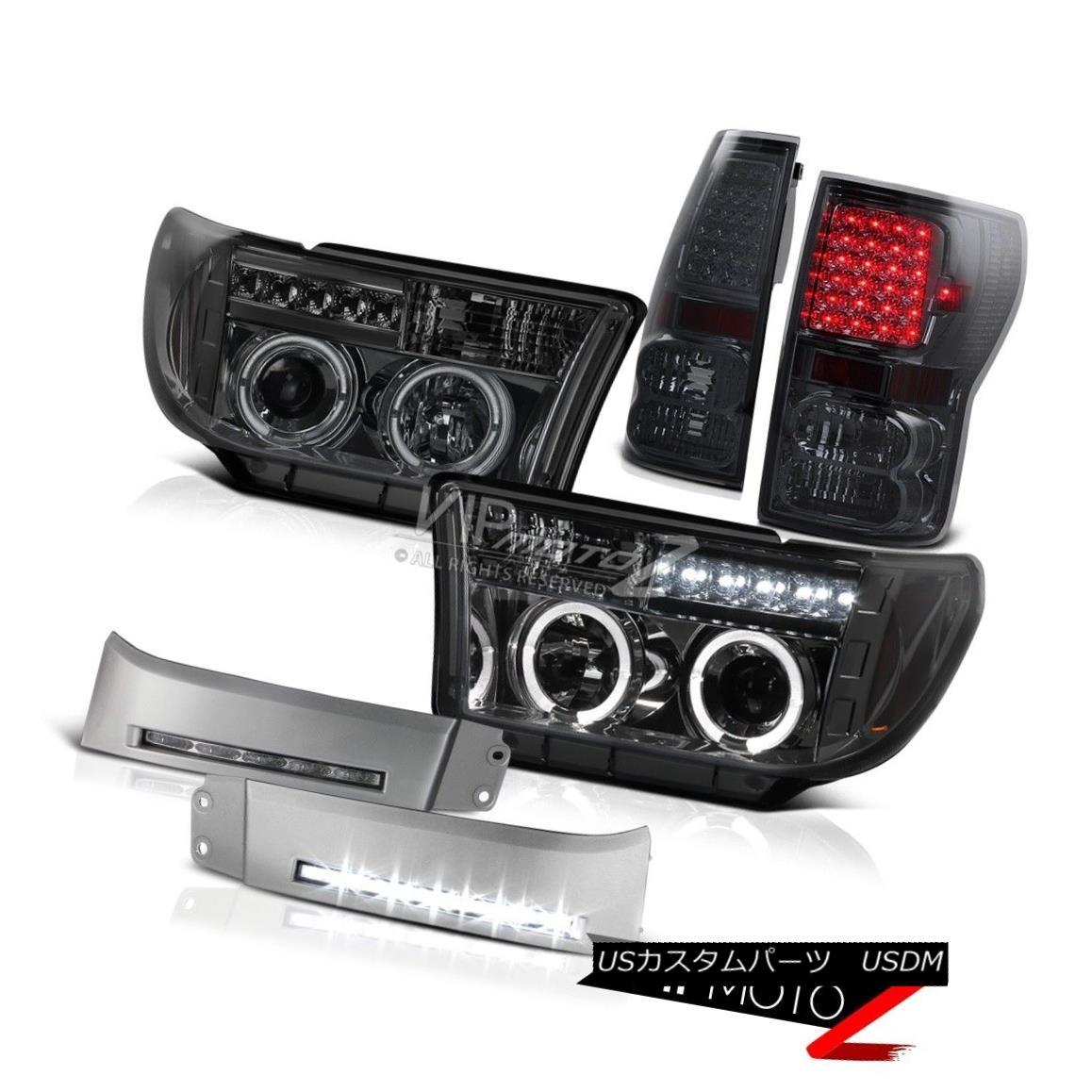 ヘッドライト 2007-2013 Tundra Toyota Smoke BEAST LED Rear Taillights Halo Headlights SMD DRL 2007年?2013年トヨタトヨタスモークBEAST LEDリアテールライトハローヘッドライトとDRL