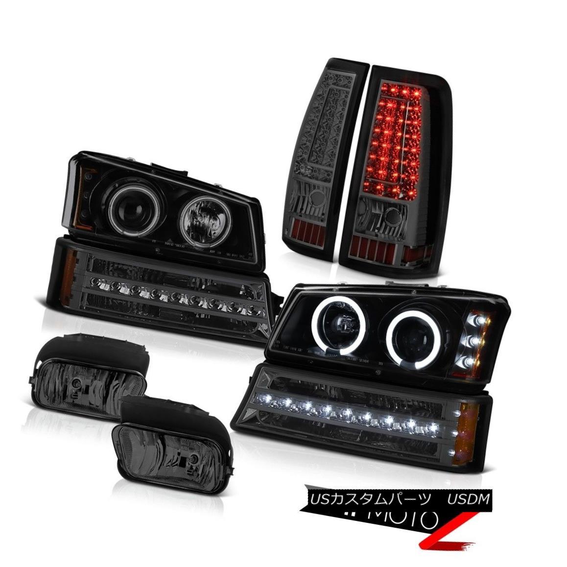 ヘッドライト 03-06 Silverado Fog Lights Tail Lamps Bumper Light Dark Tinted Headlights SMD 03-06 SilveradoフォグライトテールランプバンパーライトダークトライトヘッドライトSMD