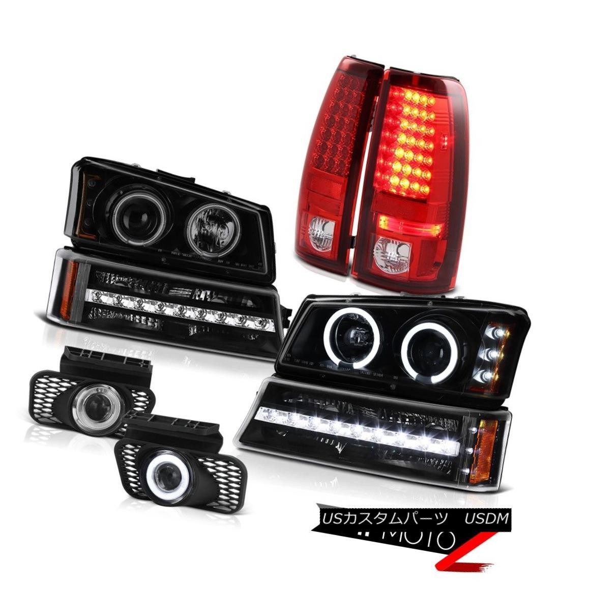 ヘッドライト 03-06 Silverado 3500HD Fog lamps red tail brake lights bumper lamp headlamps 03-06 Silverado 3500HDフォグランプ赤いテールブレーキライトバンパーランプヘッドランプ