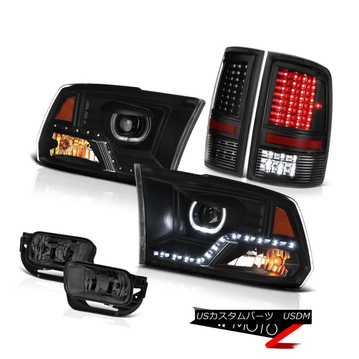 ヘッドライト 10 11 12 13-18 Dodge RAM 1500 3500 Black Headlights Led Tail Light Driving Lamps 10 11 12 13-18ダッジRAM 1500 3500ブラックヘッドライトLedテールライト駆動ランプ