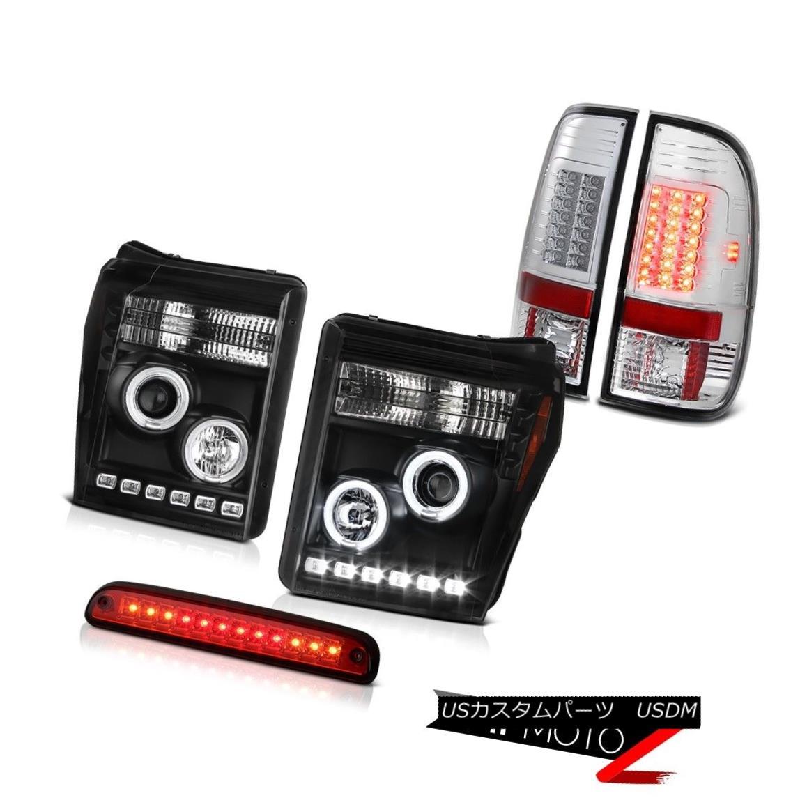 ヘッドライト 2011-2016 Ford F-350 Roof Cargo Light Euro Clear Taillamps Inky Black Headlights 2011年?2016年フォードF-350ルーフカーゴライトユーロクリアタイルランプインキブラックヘッドライト