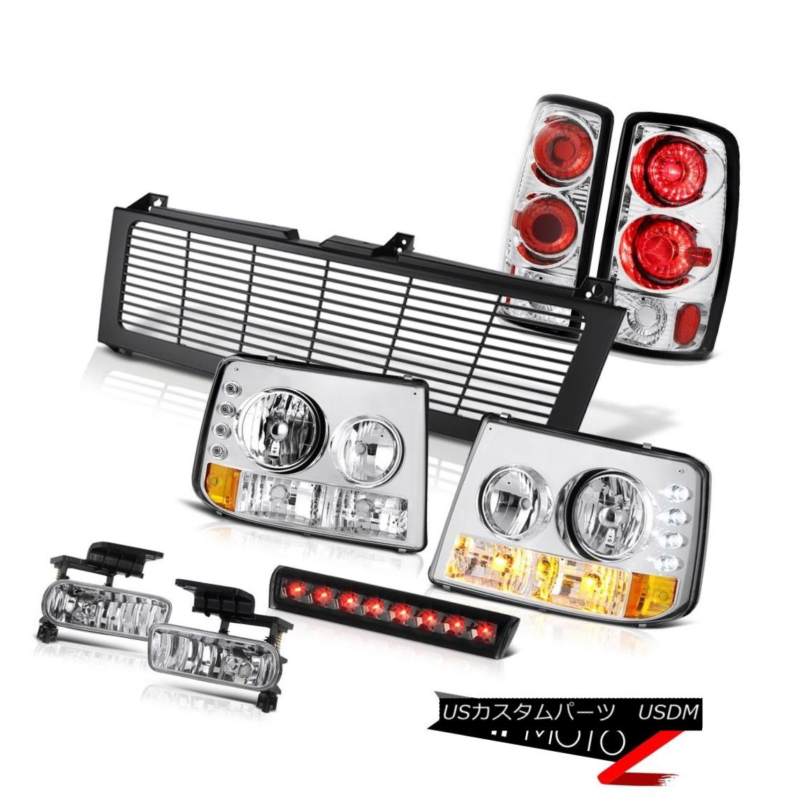 ヘッドライト Headlights Euro Taillights Fog High Brake LED Black Grille 2000-2006 Suburban LS ヘッドライトユーロ灯台霧ハイブレーキLEDブラックグリル2000-2006郊外LS