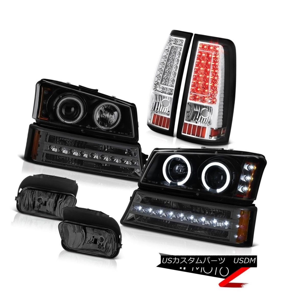 ヘッドライト 03-06 Silverado Titanium Smoke Fog Lamps Tail Brake Turn Signal Headlights SMD 03-06 Silveradoチタン煙霧ランプテールブレーキターンシグナルヘッドライトSMD