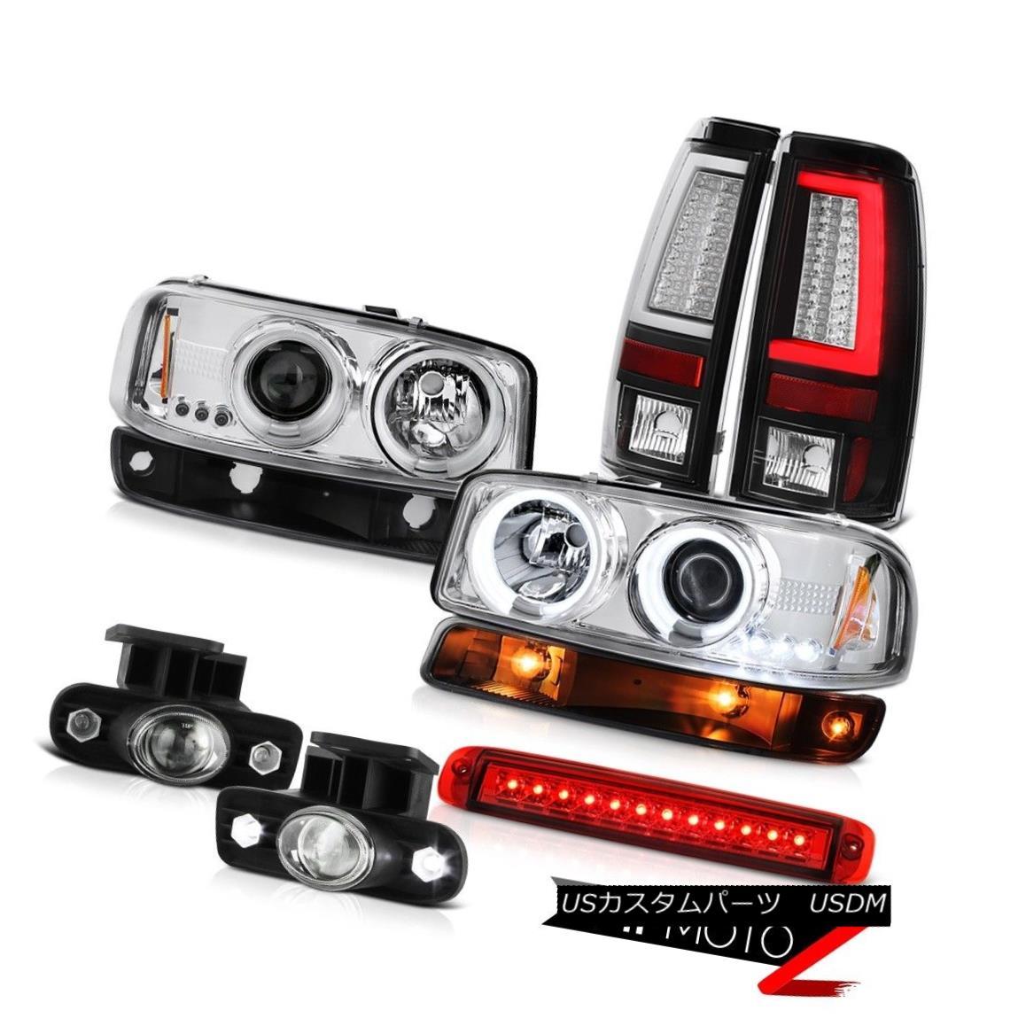 ヘッドライト 99-02 Sierra 2500HD Tail Lamps Roof Cab Lamp Turn Signal Fog CCFL Headlamps LED 99-02 Sierra 2500HDテールランプルーフキャブランプターンシグナルフォグCCFLヘッドランプLED