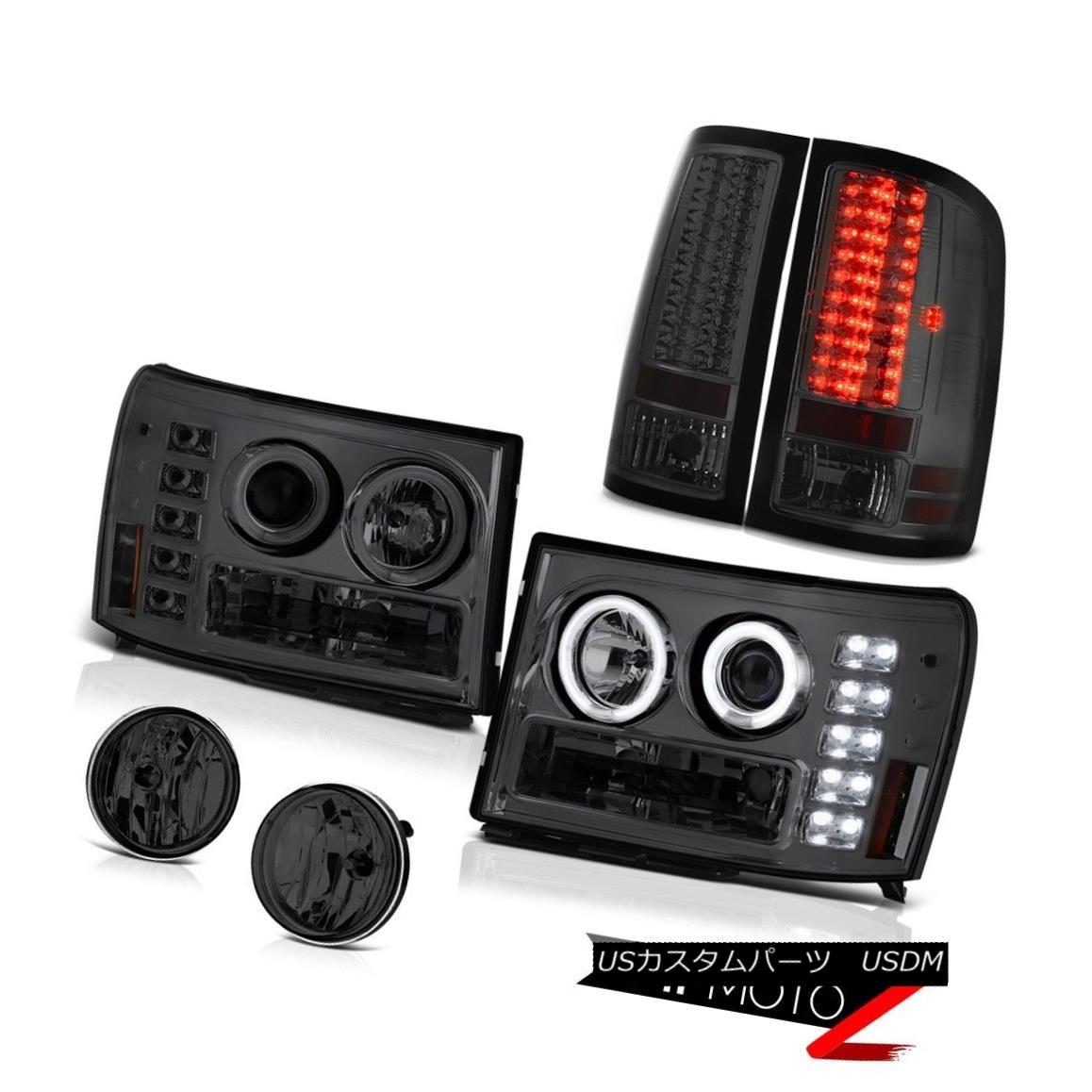 ヘッドライト Projector Halo DRL Headlights LED Bulb Tail Light 07-13 GMC Sierra WT Bumper Fog プロジェクターHalo DRLヘッドライトLED電球テールライト07-13 GMC Sierra WTバンパーフォグ