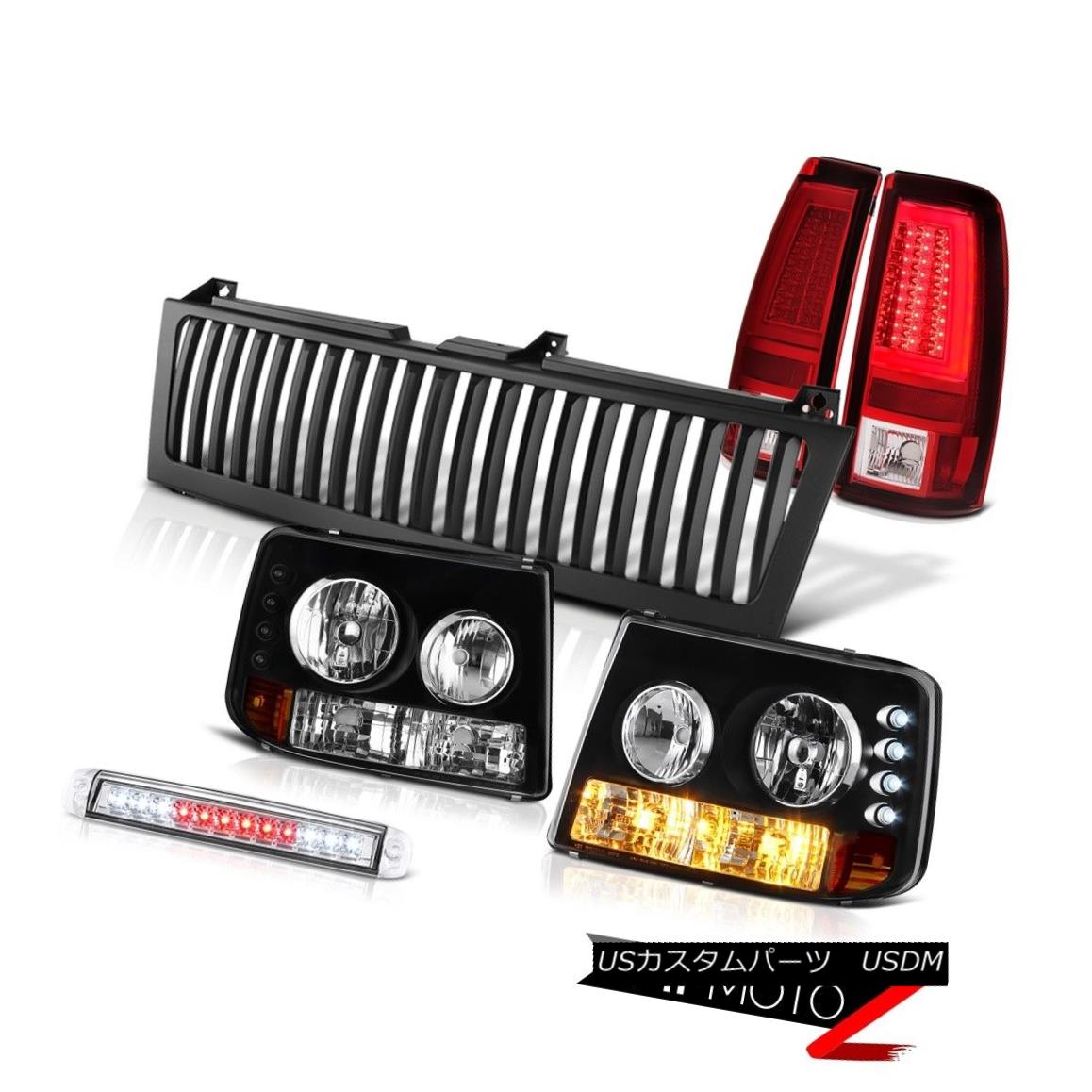 ヘッドライト 99 00 01 02 Silverado LTZ Rear Brake Lamps Vertical Grille Chrome 3rd Light LED 99 00 01 02 Silverado LTZリアブレーキランプ縦型グリルクローム第3ライトLED