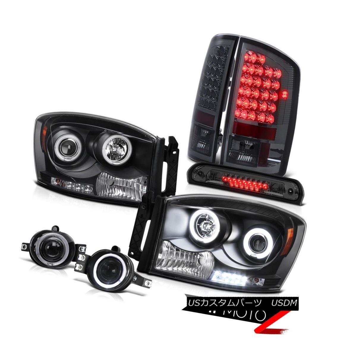 ヘッドライト 2007-2008 Ram Hemi CCFL Halo Headlights LED Tail Light Projector Fog Brake Cargo 2007-2008年Ram Hemi CCFL HaloヘッドライトLEDテールライトプロジェクターフォグブレーキカーゴ