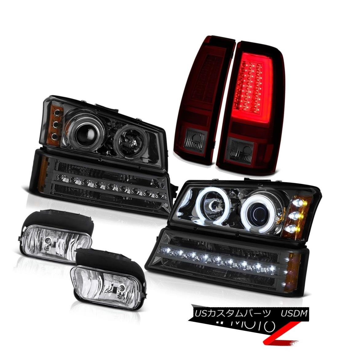 ヘッドライト 03-06 Silverado Tail Lights Euro Chrome Foglamps Smokey Turn Signal Headlights 03-06 SilveradoテールライトEuro Chrome Fogランプスモークターンシグナルヘッドライト
