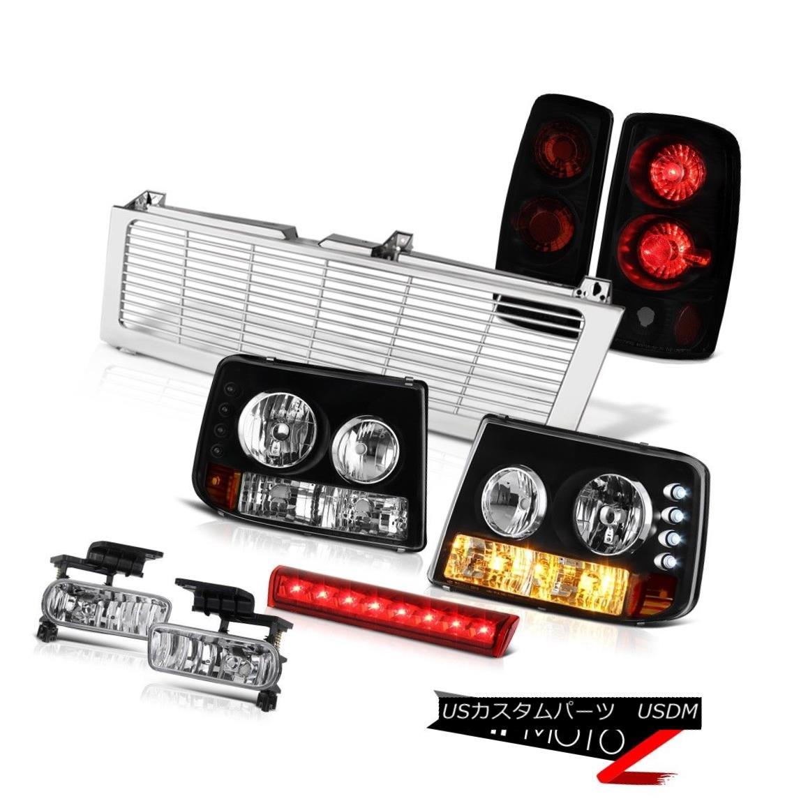 ヘッドライト 00-06 Suburban 6.0L Clear Bumper Headlights TailLights Fog Wine Brake LED Grille 00-06郊外6.0LクリアバンパーヘッドライトテールライトフォグワインブレーキLEDグリル