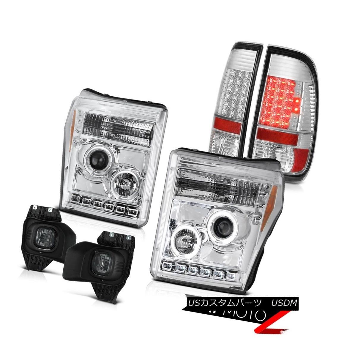 ヘッドライト 11 12 13 14 15 16 F350 Platinum Fog Lights Taillights Headlights LED Halo Rim 11 12 13 14 15 16 F350プラチナフォグライトテールライトヘッドライトLED Halo Rim