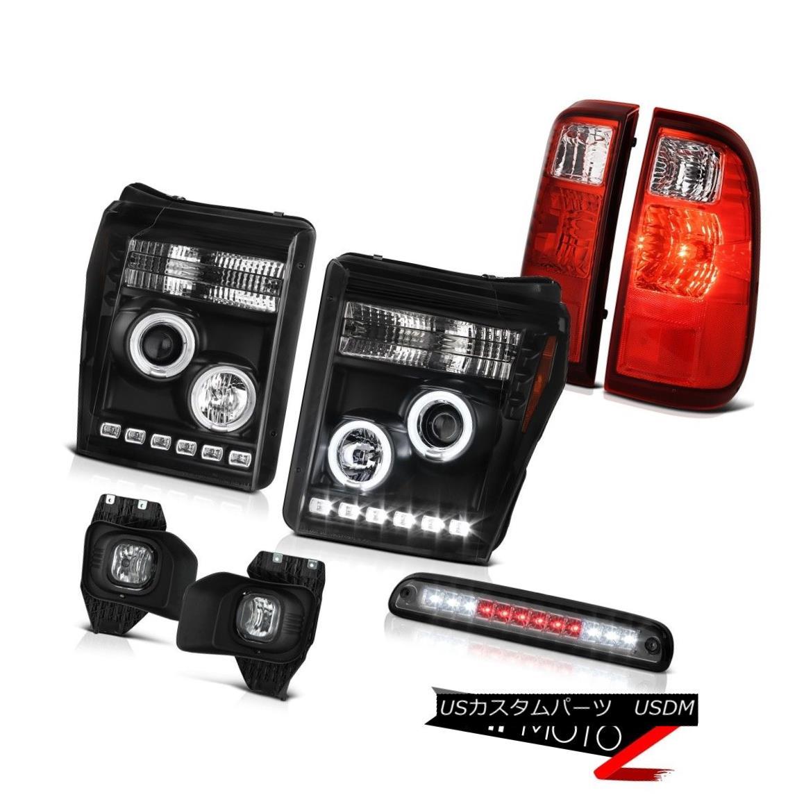 ヘッドライト 2011-2016 F350 6.7L 3RD Brake Light Fog Lights Red Rear Inky Black Headlights 2011-2016 F350 6.7L 3RDブレーキライトフォグライトレッドリアインキブラックヘッドライト