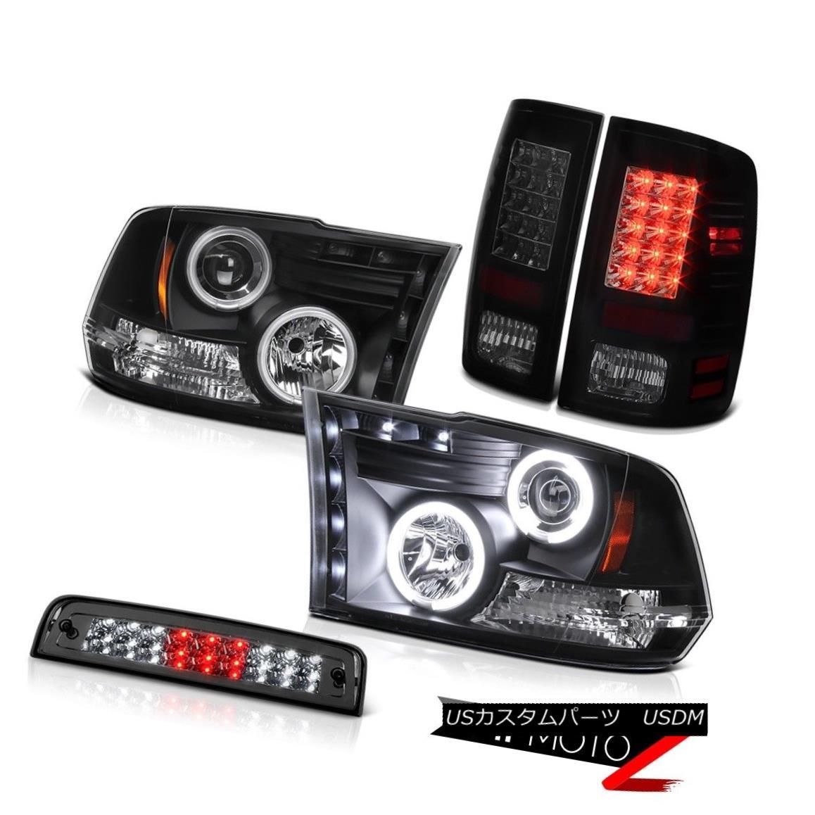 ヘッドライト 09-18 Dodge Ram 2500 3500 SLT 3RD Brake Light Tail Lamps Black Headlights SMD 09-18 Dodge Ram 2500 3500 SLT 3RDブレーキライトテールランプブラックヘッドライトSMD