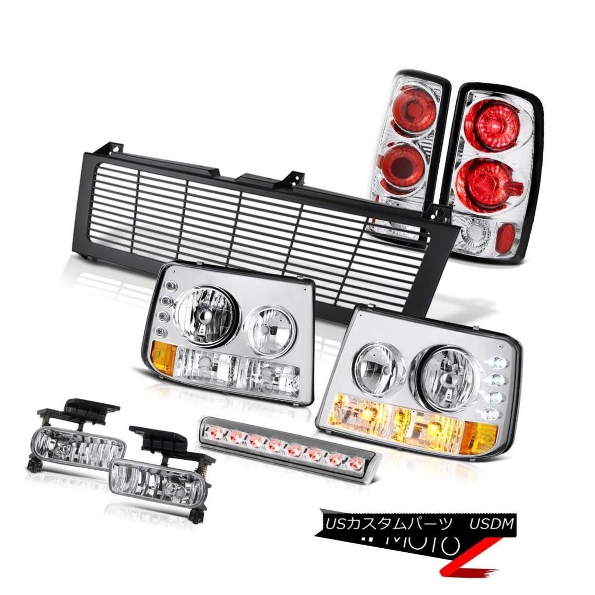 ヘッドライト Bumper Headlamp Brake Lamps Fog High Cargo LED Black Grille 04 05 06 Suburban LS バンパーヘッドランプブレーキランプフォグハイカーゴLEDブラックグリル04 05 06郊外LS