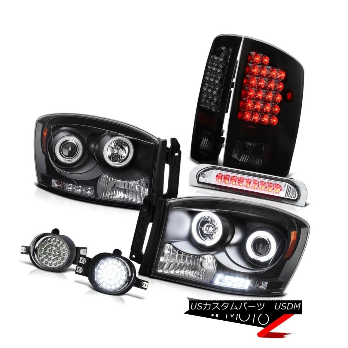 For Smoked 01-11 Ford Ranger Dual Halo LED Pro Headlights Smoke Head Lights