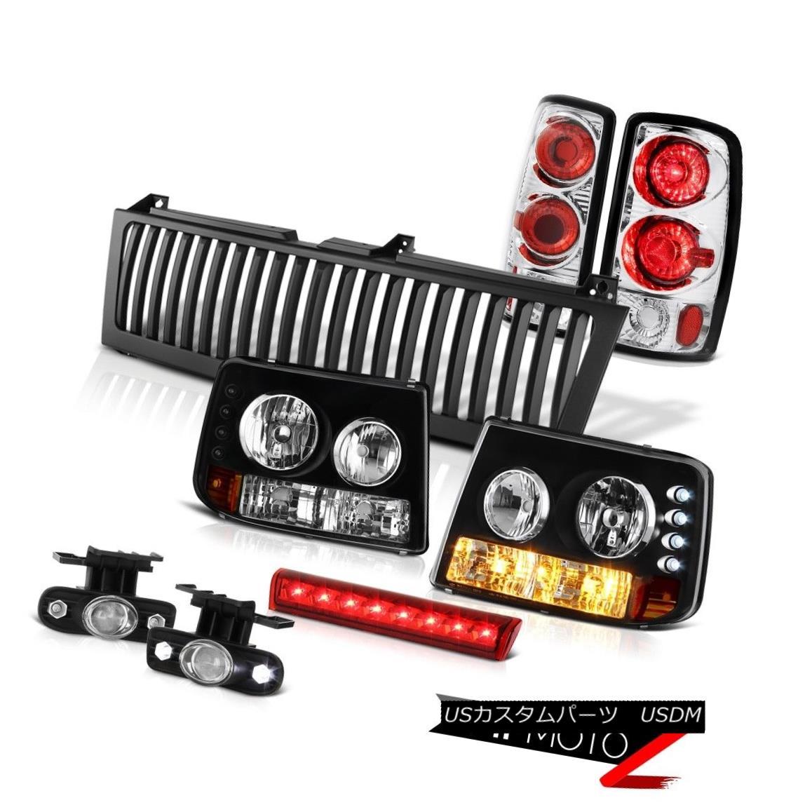 ヘッドライト Parking Headlamps Rear Brake Tail Euro Fog High LED Black 2000-06 Chevy Suburban パーキングヘッドランプリアブレーキテールユーロフォグハイLEDブラック2000-06シボレー郊外