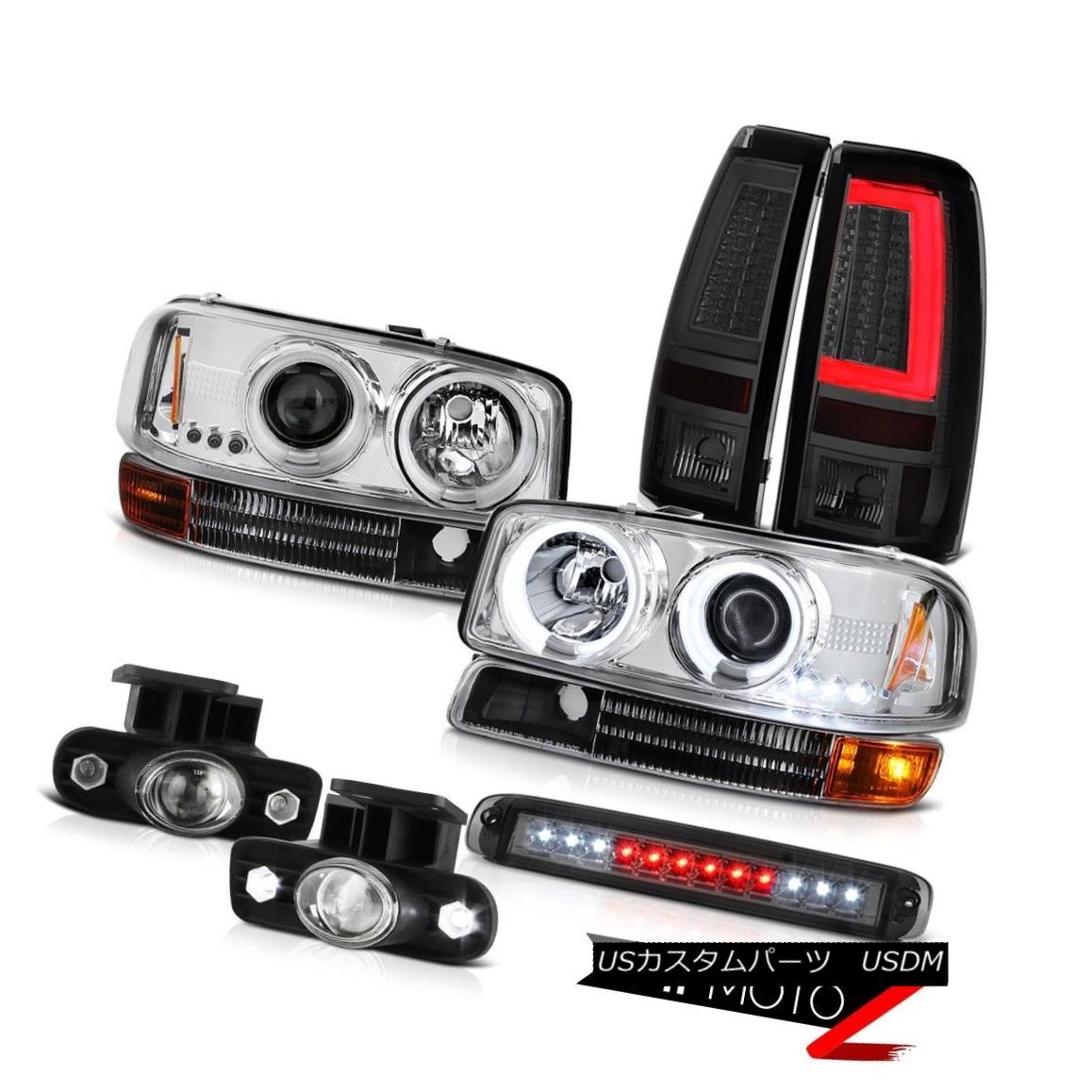 ヘッドライト 99-02 Sierra 6.0L Taillights 3RD Brake Lamp Turn Signal Foglamps CCFL Headlights 99-02 Sierra 6.0Lテールライト3RDブレーキランプターンシグナルフォグランプCCFLヘッドライト