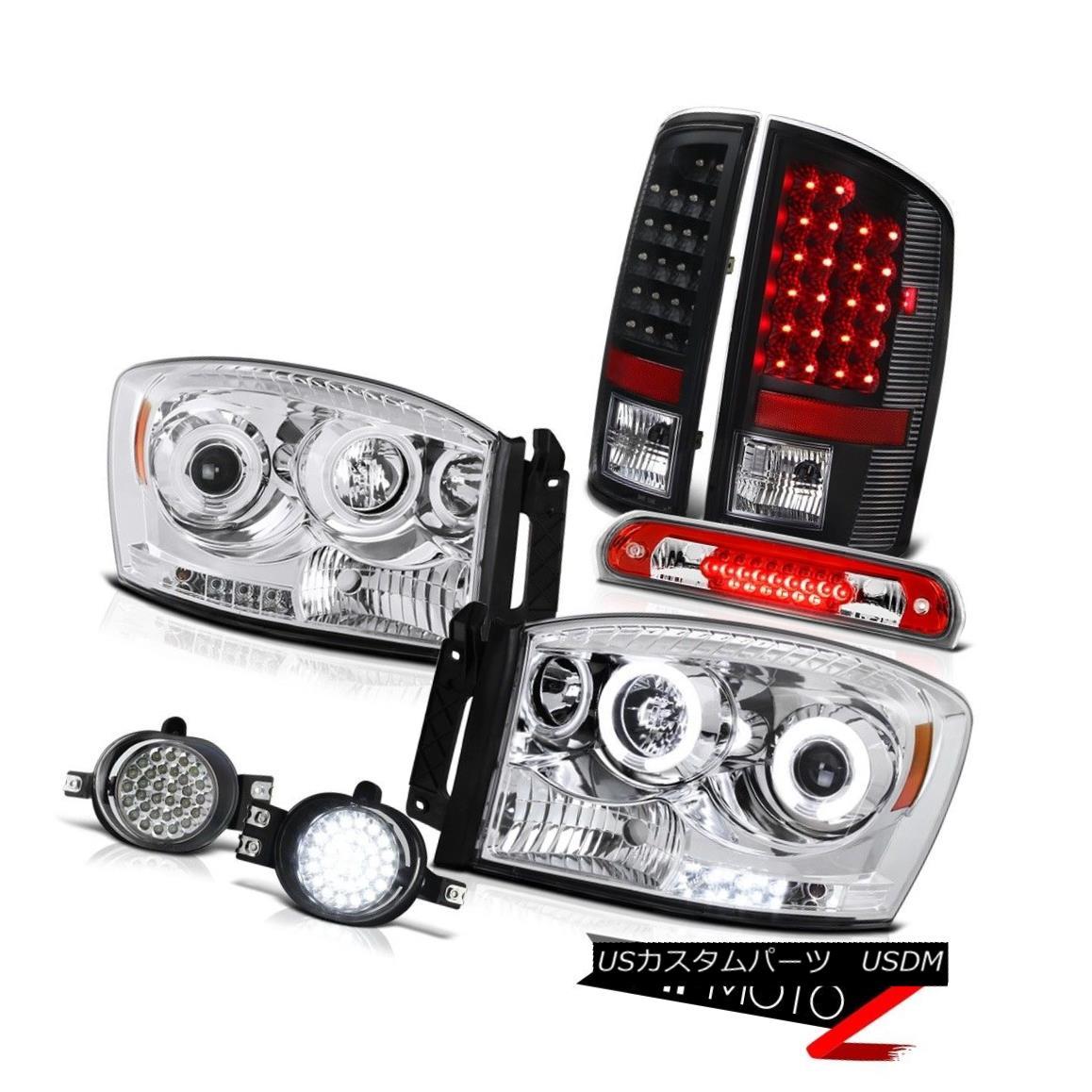ヘッドライト CCFL Headlights Black Brake LED Tail Lights Driving Fog Third Cargo 2006 Ram ST CCFLヘッドライトブラックブレーキLEDテールライトドライビングフォグ第3貨物2006 Ram ST