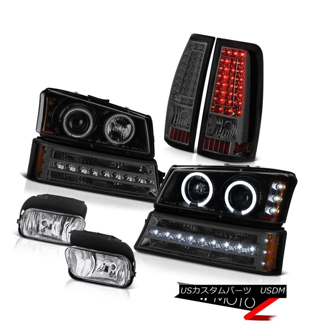 ヘッドライト 03-06 Silverado Foglamps Dark Smoke Taillamps Bumper Light Projector Headlamps 03-06 Silverado Foglamps Dark Smoke Taillampsバンパーライトプロジェクターヘッドランプ